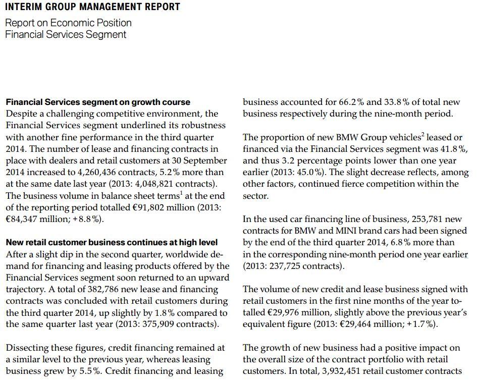 recorte informe 3T sobre financiación vehículos