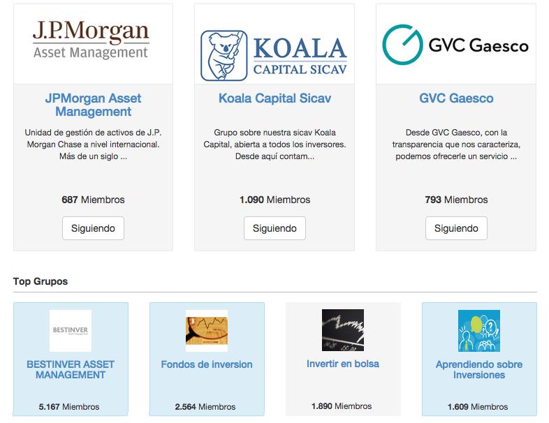 Grupos fondos de inversión