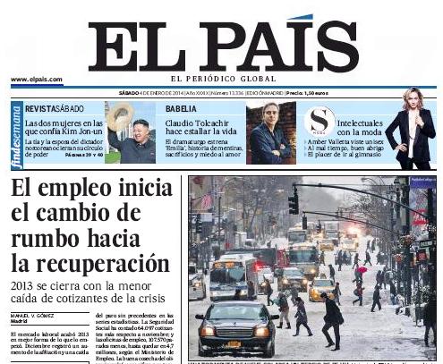 Portada El País 4 de diciembre