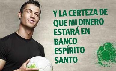 Publicidad de Cristiano Ronaldo para BES