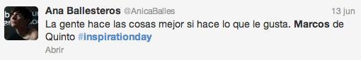 Marcos de Quintos Inspirationday Anicaballes