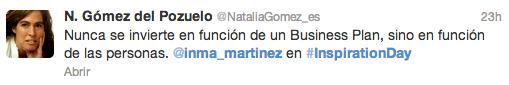 Inma Martinez Inspirationday Natalia Gomez