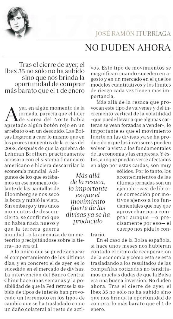 No Duden Ahora-José Ramón Iturriaga