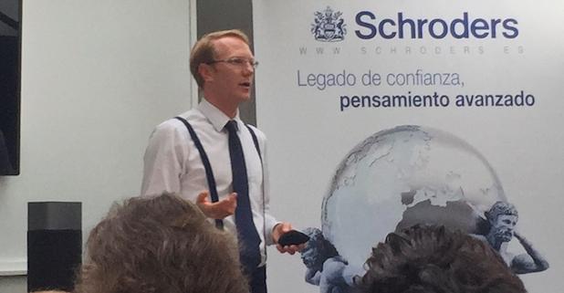 Steve Cordell en su reciente conferencia en Madrid