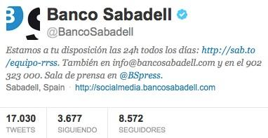 Twitter Banco Sabadell
