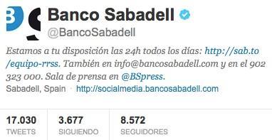 Twitter Banco Sabadell