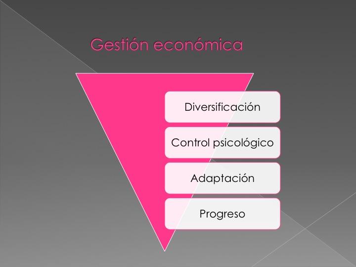 Pirámide de gestión económica