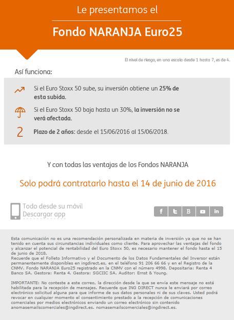 Ing direct fondo naranja euro stoxx 50
