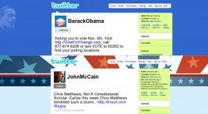 El twitter de Obama y el de McCain